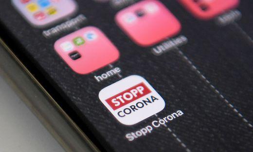 ++ THEMENBILD ++ CORONAVIRUS: 'STOPP CORONA APP'