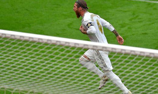 Sergio Ramos nach seinem Goldtor gegen Athletic Bilbao