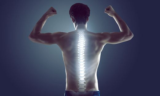 Mentale wie auch körperliche Stärke beugen Rückenschmerzen vor.
