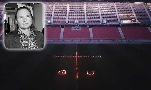 Ein Lichtermeer im Stadion erinnert an Unterköfler