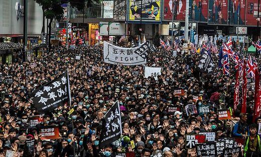 Massenprotest in Hongkong