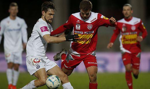 Das letzte Duell ging im April 2015 mit 2:0 an die Austria