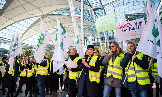 Flugbegleiter-Streik bei Lufthansa am 7. November
