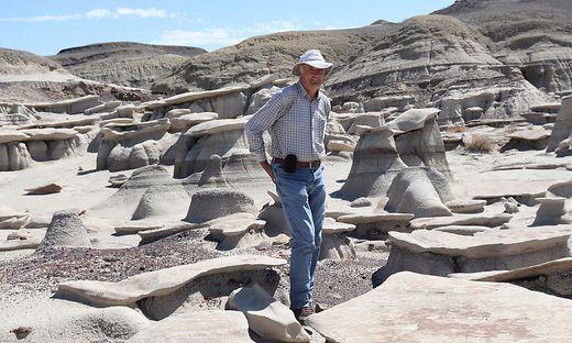 Karl Krainer in New Mexico, wo auch der nach ihm benannte Saurier Gordodon kraineri gefunden wurde