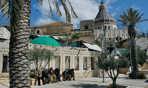 Die Kuppel der Verkündigungskirche prägt das Stadtbild von Nazareth