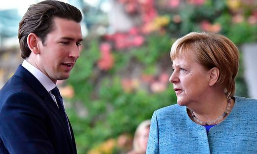 Kurz und Merkel 2018 in Berlin