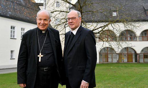 Kardinal Christoph Schönborn und der jetzige Bischof von St. Pölten, Alois Schwarz