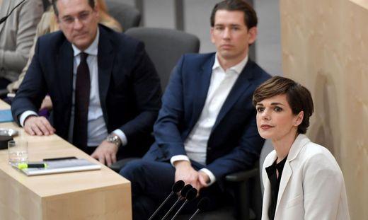 Vizekanzler Strache, Kanzler Kurz, SPÖ-Chefin Rendi-Wagner