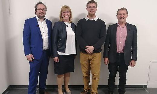 Valentin Krenn (Schriftführer), Monika Rupp (Stellvertreterin), Nikolaus Bösch-Weiss (Vorsitzender) und Helmut Feigl (Vorstandsmitglied)
