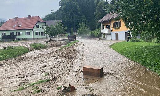 Schwere Unwetter im Bezirk Deutschlandsberg