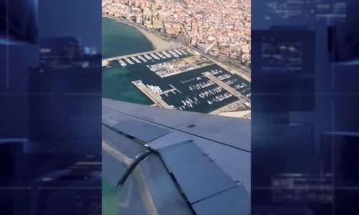 Flugzeug gerät in gefährliche Seitenlage - Pilot muss Landeanflug abbrechen