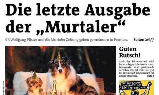 """Seit 1. Jänner ist die legendäre """"Murtaler Zeitung"""" Geschichte"""