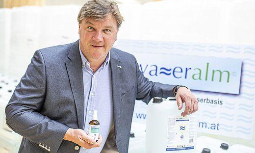 Wasseralm Desinfektionsmittel Dr. Hochsteiner Werner Woelfnitz Mai 2020