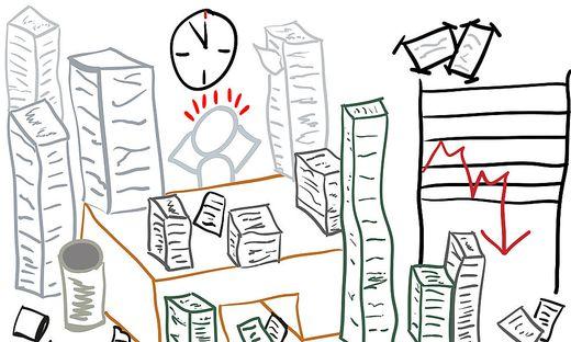 Grafik: Stress im Job