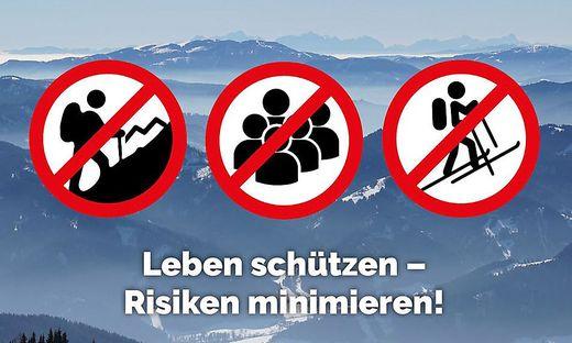 Von Bergtouren wird dringend abgeraten