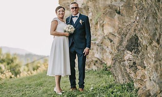 Sieglinde Pacher-Griesser und Arnold Pacher feierten ihren Hochzeit