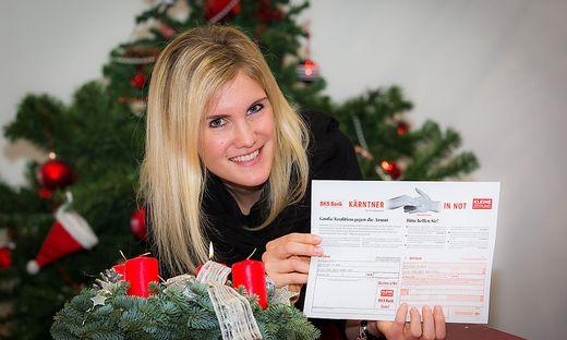 Kärntner in Not Weihnachtsscheck Überweisung Spende KIN