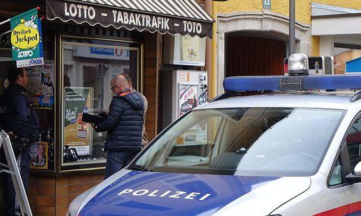 Polizeieinsatz in einer Trafik (Archivbild)
