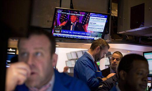 Die Wall Street, im Jahr 2016 Feindbild von Donald Trump, setzt auf einen Wahlsieg von Joe Biden