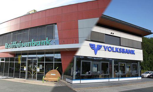 Raiffeisenbank und Volksbank