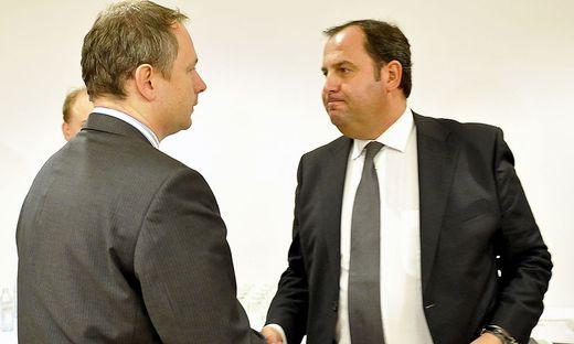 Ex-Vizekanzler Josef Pröll mit dem damaligen bayerischen Finanzminister Georg Fahrenschon