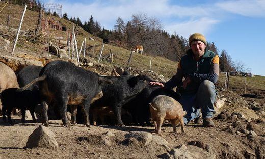 Christian Bachler hat Schweine und hatte Schwein