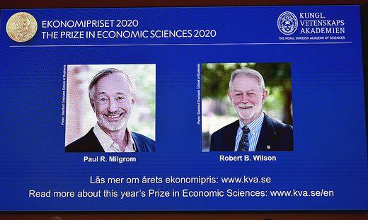 Die Träger des Wirtschaftsnobelpreises 2020: Paul Milgrom und Robert Wilson
