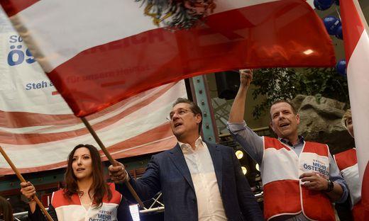 """Im Wahlkampf tritt die FPÖ für """"mehr Österreich"""" und """"weniger EU"""" auf"""