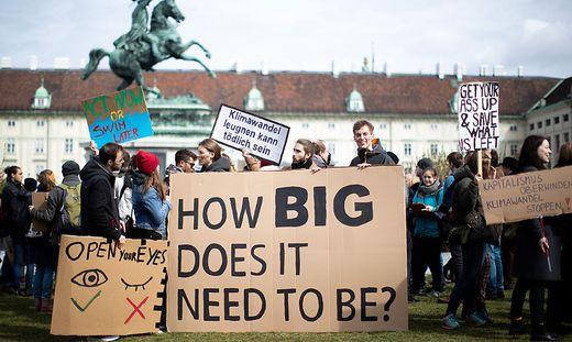 Demo Freitag Wien Detail: ''Totalversagen'' Der Regierung: Kampf Ums Klima: Auch