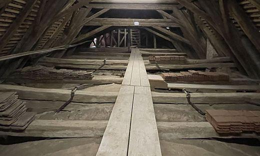 Der Sanierungslärm im Dachstuhl der Riegersburg ist wieder vorbei