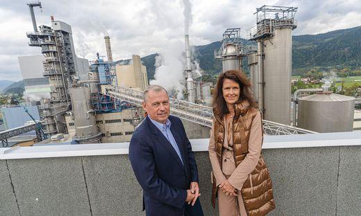 Zellstoff-Pöls-Vorstände Werner Hartmann und Ingrid Gruber