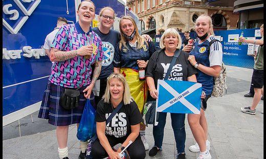 Die schottischen Fans sind zahlreich nach London gereist