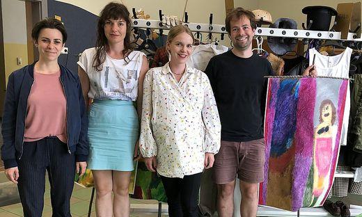 Laura Winkler, Christina Schmitt, Maria Buzhor und Georg Schütky
