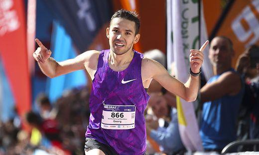 Georg Schrank lief 2019 beim Graz Marathon auf den zweiten Platz