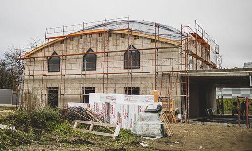 Baustelle Moschee Rudolfsbahngürtel Klagenfurt November 2020