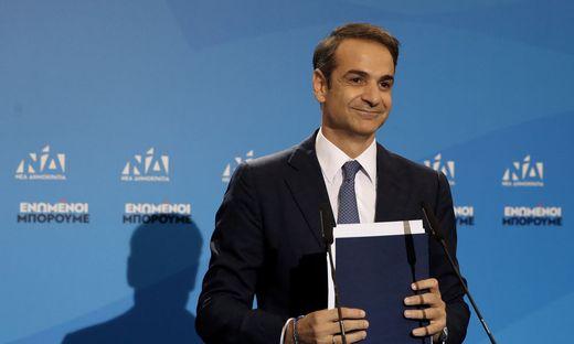 Kyriakos Mitsotakis von der Nea Dimokratia