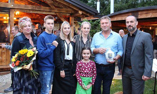Dragan Vasic mit seiner Familie