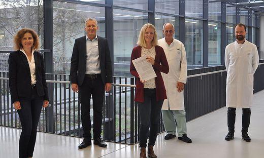 Das Forscherteam: Sonja Bidmon, Ralf Terlutter, Svenja Diegelmann, Rudolf Likar, Markus Köstenberger (von links)