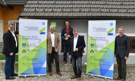 Setzen auf gutes Klima: Josef Rauscher, Reinhold Höflechner (Straß), Modellregionsmanager Christian Luttenberger sowie Gerhard Rohrer und Manfred Lechner (St. Veit)