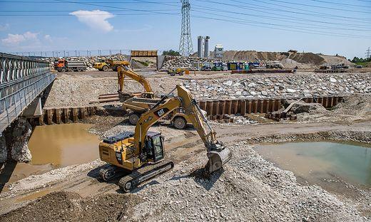 Das Murkraftwerk in Graz wird längst gebaut