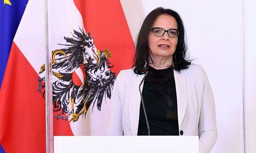 Kulturstaatssekretärin Andrea Mayer informierte