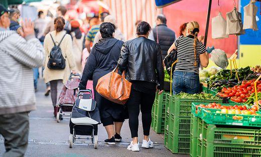 CORONAVIRUS: SITUATION AM BRUNNENMARKT IN WIEN