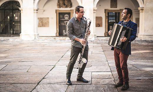 """Das Duo Moritz Weiß und Ivan Trenev hatten im April 2019 ihr Debut mit dem Album """"Kleztango & beyond"""""""