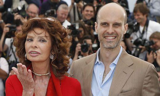 Sophia Loren und Edoardo Ponti
