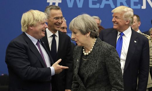 Johnson, May und Trump