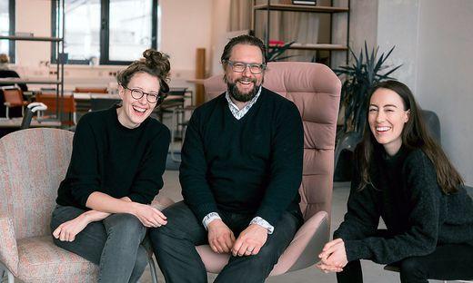 Das Gründerteam von WisR: Klaudia Bachinger, Martin Melcher und Carina Roth (von links)