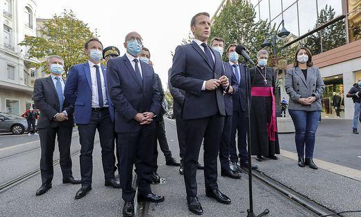 Macron war nach dem Anschlag in Begleitung von Ministern nach Nizza gereist