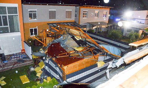 Am Drauboden wehte der Sturm das Dach eines Wohnhauses weg.