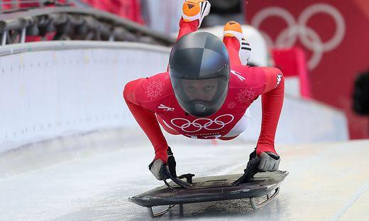 Lölling rast beim Skeleton zu Olympia-Silber