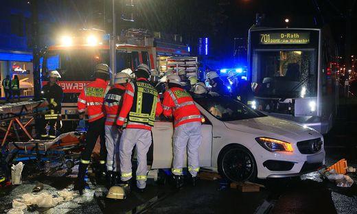 Straßenbahnunfall in Düsseldorf